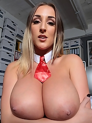 Natural breasted goddess Stacey Poole poses in a hot costume