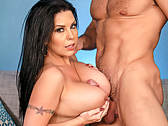 There's nothing like a set of big tits to improve your marriage! Sheridan Love's going through a divorce and needs a place to stay, and lucky for her, her friend Karen says she can crash at her place. Karen's husband Johnny does the honors of showing Sheridan her quarters, and she does the honors of showing him her massive rack! Married Johnny can't compete with his tits-loving boner, and soon enough he's balls deep in his new roommate!