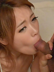 Reina Oomori Asian is fucked with vibrator and gets cock to suck