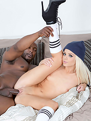 Elsa Jean gets her tight snatch busted by a massive black cock