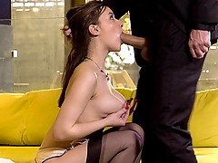 A new scene starring French porn star Mina Sauvage! This scene is incredibly intense, the sexual tension just splendid! Beautiful Mina loves sucking Yannick's huge dick! He can't control himself and the cumshot comes quickly! (Video duration: 10 minutes)