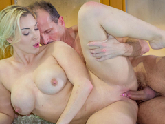 George Uhl fucks busty blonde babe Victoria Summers in the pool. They will then get out of the water and she will suck his dick ferociously, before getting her smooth snatch drilled in every position and glazed with cum. (Video duration: 29 minutes)