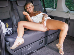 The air conditioning stopped working, so Barra Brass strips in the backseat of the cab. She goes even further, touching her sweet hot pussy and luring driver Leny Evil. She'll get his hard cock and tasty cum in this sweaty dirty sex session. (Video duration: 23 minutes)