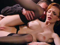 Belle Claire gets chosen to play out the elite's fantasy. She enters their luxurious world, indulging in an intense fetish fuck with Adam Black. She's in for deep anal pounding, pussy eating and sensual smoking. (Video duration: 31 minutes)