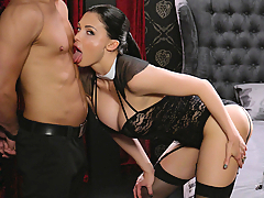 Gorgeous Hungarian chick Aletta Ocean gets chosen to play out an intense fantasy with Lutro. He'll fuck her with a face strap-on dildo and satisfy that sweet pussy of hers before cumming in her mouth. (Video duration: 32 minutes)