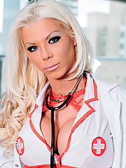 Barbie Sins naughty nurse cures her patient by fucking him