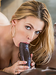 Sloan Harper devours her friend's massive black cock