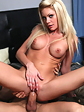 Riley Steele banging her boyfriend's hard cock in the bedroom