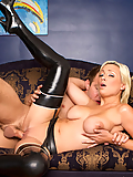 Lexi Swallow seduces him with her big boobs and high heels