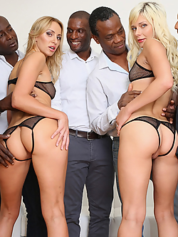 Afina Kisser and Gabriella Ross banged by a gang of black gentlemen