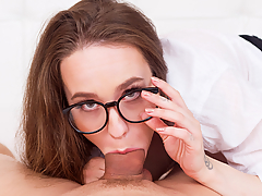 Time to fuck that hot nerdy girl with glasses from your class who used to give you dirty thoughts in this new porn video in VR! The fact that Russian porn actress Angel Rush is your private math teacher doesn't mean that you can't learn something new. So, forget algorithms and equations and get ready to teach her what raw sex is. 69, missionary, doggy style, pissing, fingering, blowjob... anything goes on this amazingly hot VR porn which will end up with an explosive cumshot all over her nerd glasses. Man, this lesson is gonna be pretty intense!