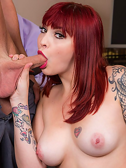Amber Ivy bangs her colleague on his last day at the office
