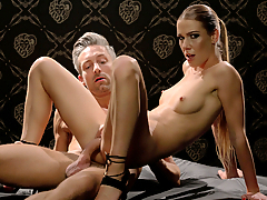 Beautiful Czech blonde Alexis Crystal gets transformed into a submissive doll. She gets bound, pussy licked passionately then fucked deep in various positions. Finally, her partner Lutro fills up her sweet pussy with warm cum in an impressive creampie shot. (Video duration: 35 minutes)