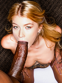 Arya Fae hooks up with her fantasy man for wild interracial sex
