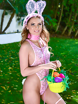 Summer Brooks gets pounded by the Easter bunny