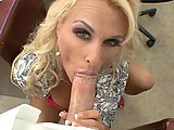 This clip from Moms A Cheater 6 by Incredible Digital features Holly Halston in a P.O.V. blowjob scene looking into the camera while she deepthroats a big hard dick and strokes her big tits.