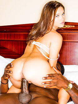 Zoe Bloom gets her tiny pussy slammed by a colossal black cock