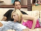 This clip from Not Married With Children XXX by Hustler and X Play features Kagney Linn Karter eagerly sucking her new friend dick.