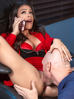 Katana Kombat bangs the janitor in her office after hours