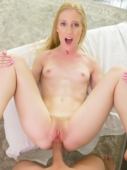Emma Starletto slides his big pole into her tiny hole