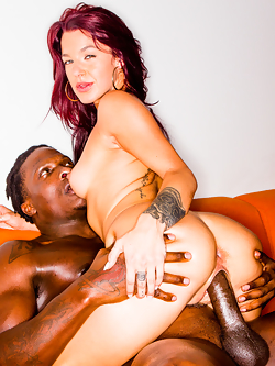 Evelin Stone worships her sugar daddy's massive black shaft