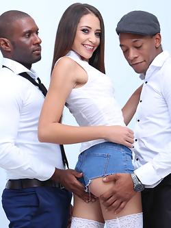 Avi Love takes two black shafts up her ass simultaneously