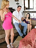 August swapping husbands with Holly West and Violet Marcell