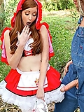 Nikki Rhodes Little Red Riding Whore fucked in the forest