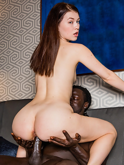 Misha Cross hooks up with her fantasy man for wild interracial sex