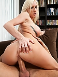 Nadia Hilton fucking her boyfriend's grown-up son on the couch