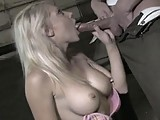 This clip from Live New Girls by Club Jenna features blonde superslut Shawna Lenee on her knees in a warehouse sucking a hard cock like a champ licking the balls and swallowing that big dick whole.
