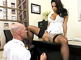 Johnny has been trying to climb the ranks in the company for years, and every time he thinks he's about to get a promotion, his slutty, man-hating boss, gives the position to someone else. Johnny is going to try something a little different today, and hopefully he'll be able to convince Asa Akira that he deserves a big promotion.