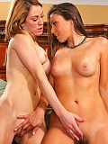 Celeste Star in intense orgasmic action with Amber Ashlee!
